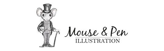 Mouse & Pen Illustration